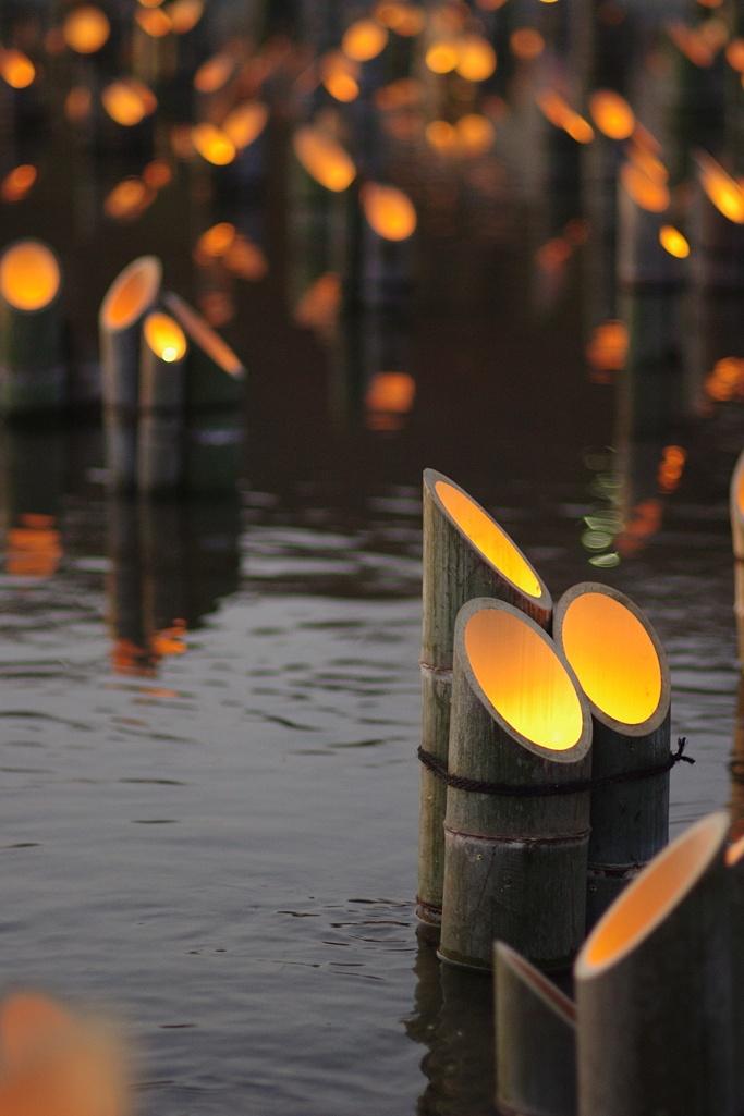 Lampade Bamboo candle