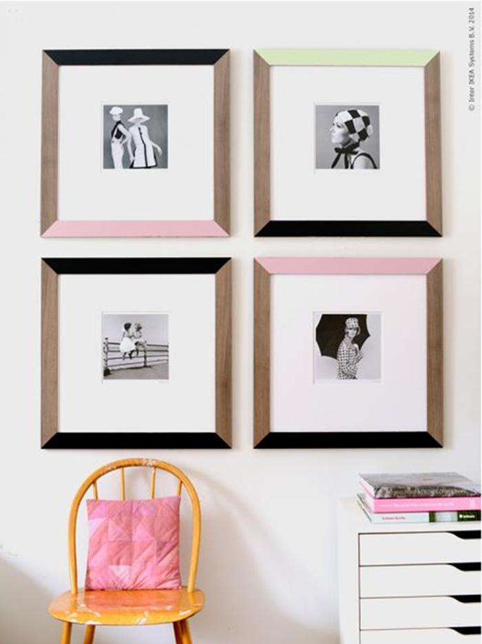 Cornici fai da te in stile anni 60 in the mood for design for Ikea cornici foto