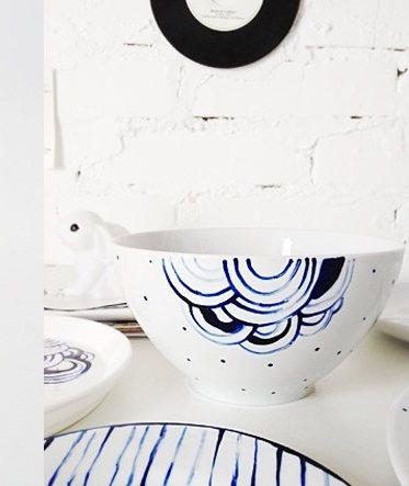 ceramiche dipinte, regalo di  Natale fai da te