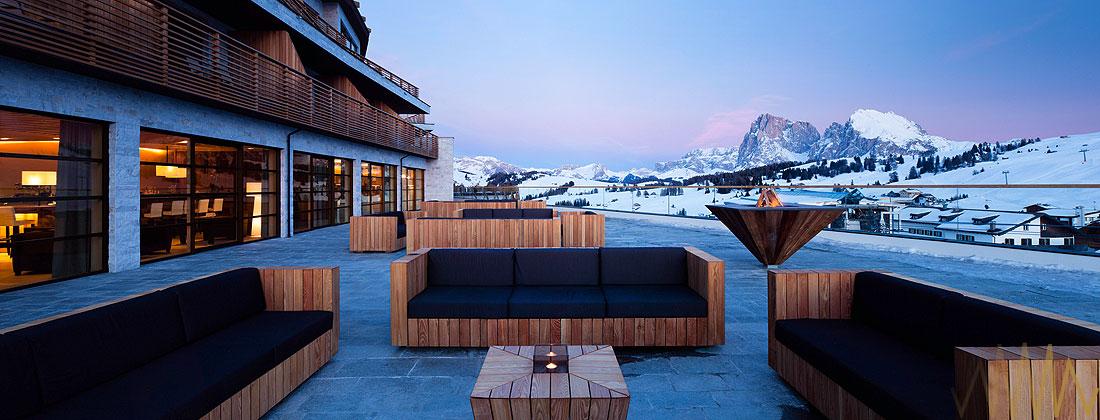 Alpina dolomites in the mood for design for Design hotel dolomiten