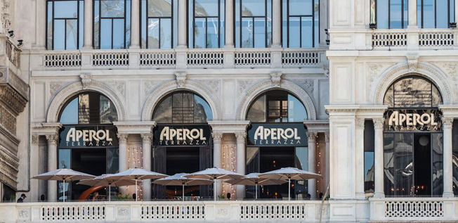 Terrazza Aperol, Piazza del Duomo – In the mood for design