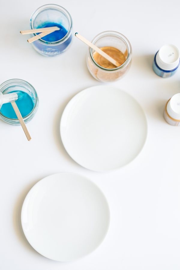 DIY per piatti colorati