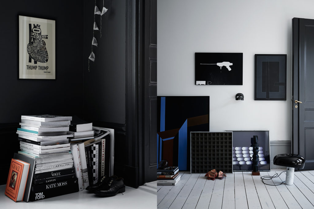 Elle deco UK in blu e nero