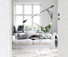Total white per un interno svedese