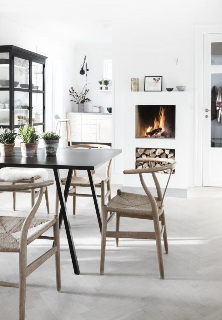 Pavimenti sbiancati per una casa in Danimarca