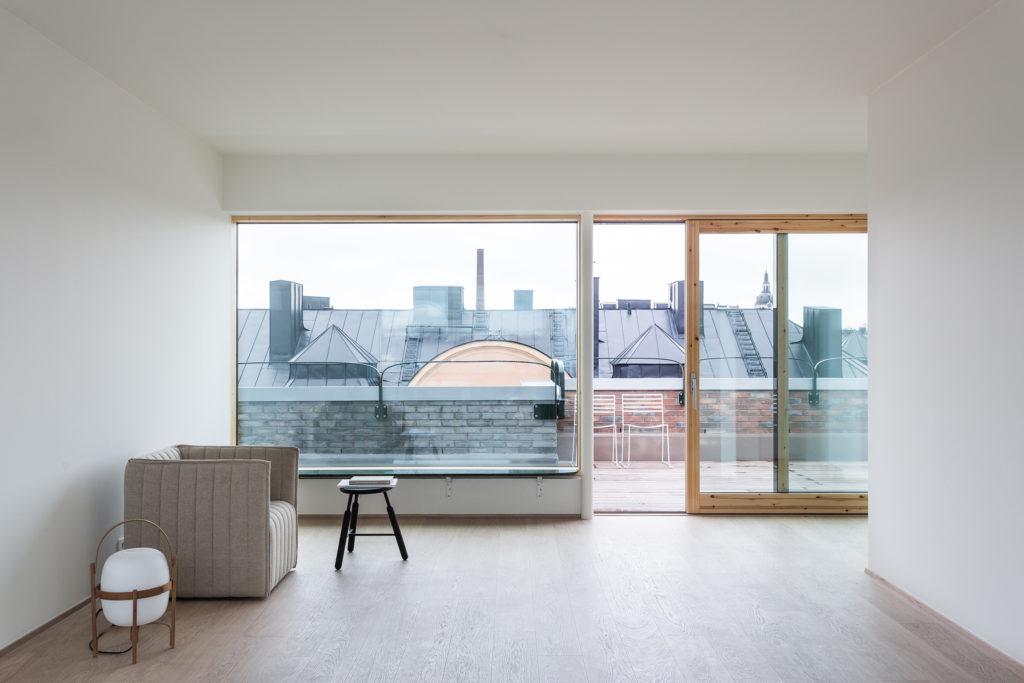 Una casa con vista sui tetti di Stoccolma