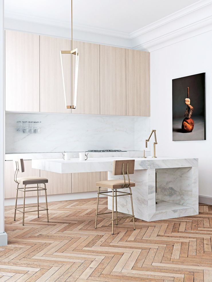 Un appartamento dal fascino minimalista a barcellona in for Modern minimalist kitchen design