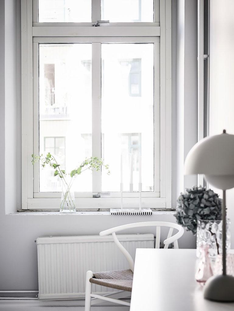 casa in total white stanza da letto