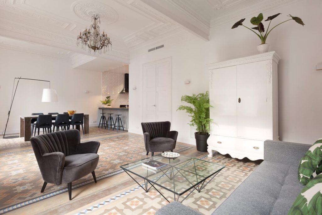 appartamento con marmette
