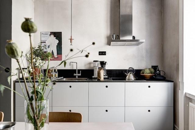 colori caldi in Svezia cucina