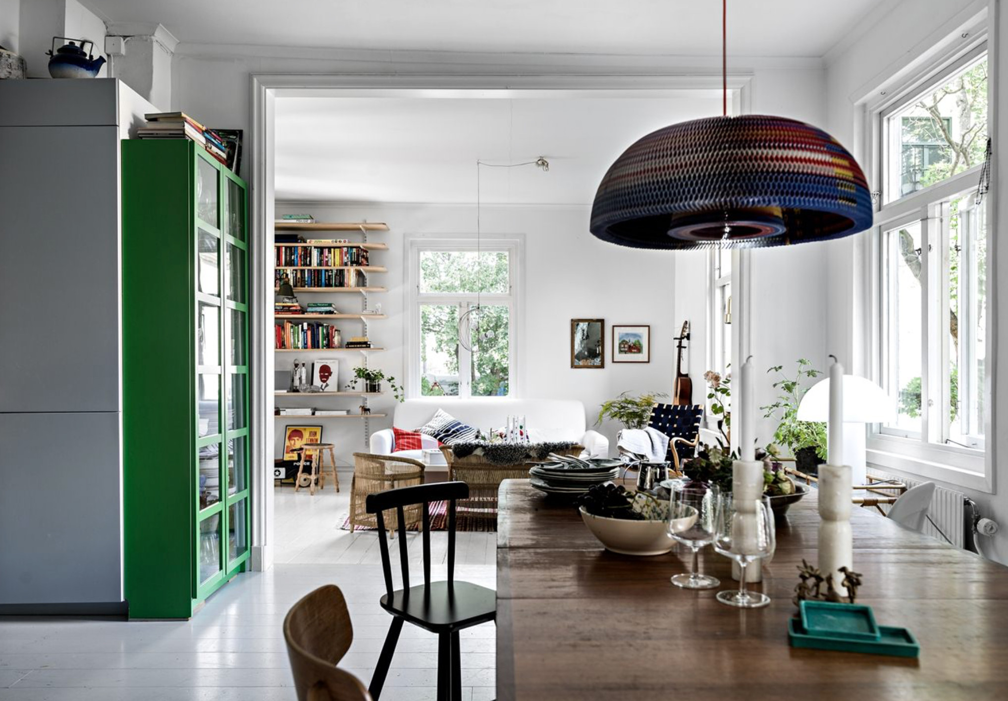 Colori pastello per una casa con veranda
