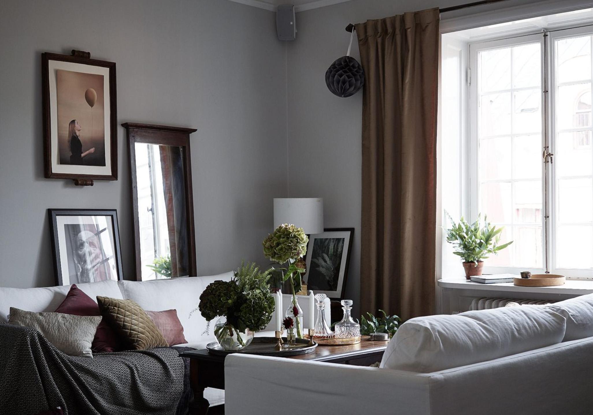 interno svedese dai colori scuri e avvolgenti ? in the mood for design - Colori Soggiorno 2016