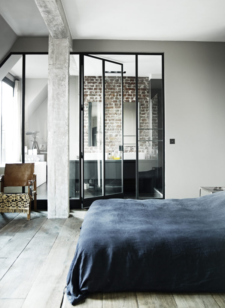 Un loft industriale a Parigi bagno