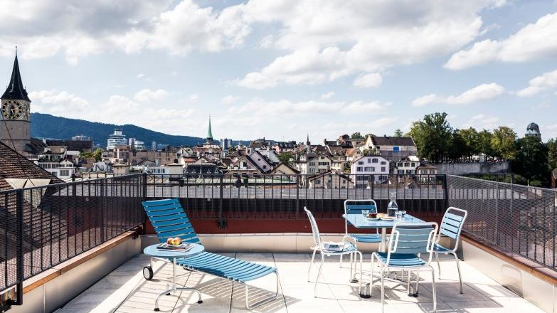 Un piccolo boutique hotel nel centro di zurigo in the for Terrace zurich
