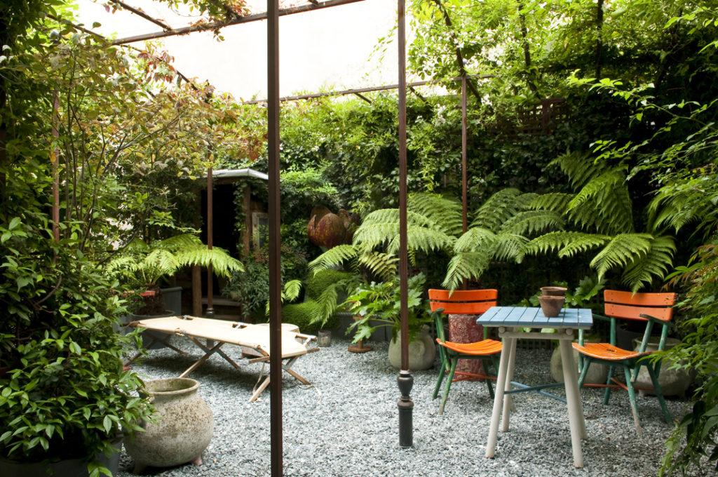 Appartamento parigino con giardino