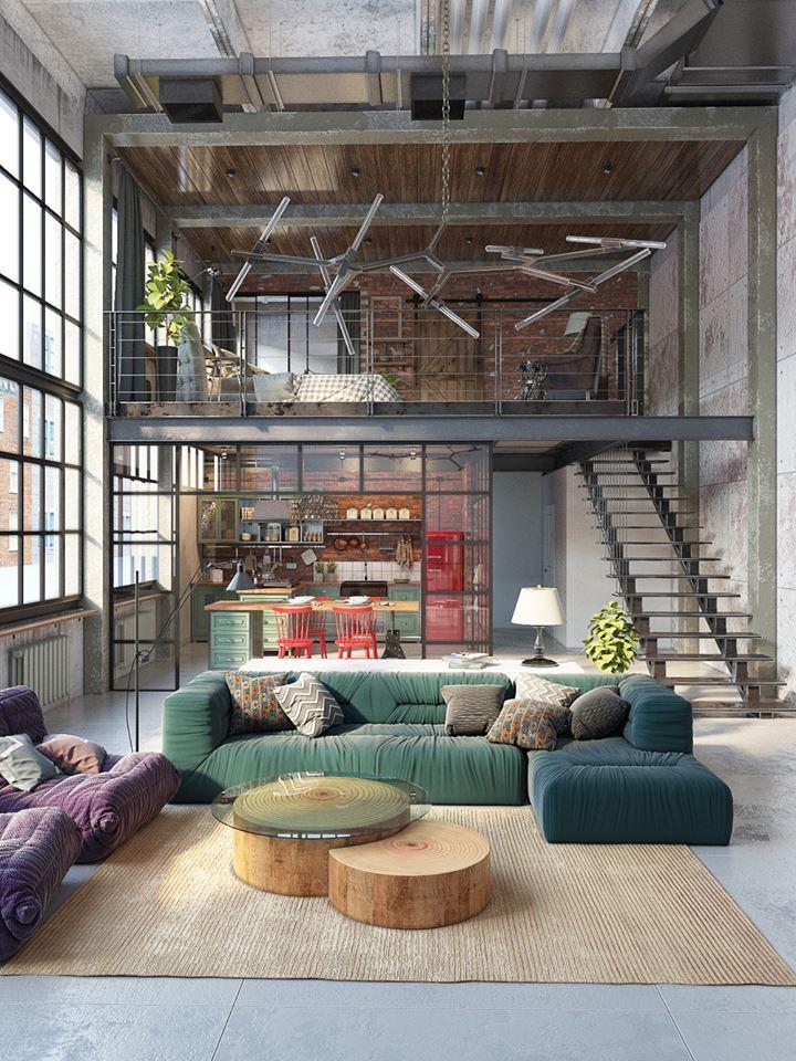 stile industriale per un loft a budapest in the mood for
