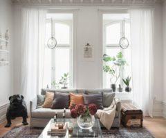 Interni nordici: un bilocale spazioso con patio da sogno