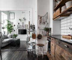Tiny &cozy:  mattoni a vista per un monolocale pieno di spunti