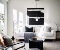 Interior Inspiration: bianco e travi a vista per un appartamento dallo stile essenziale