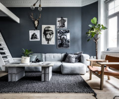 Interior Inspirations: total blu con un tocco d'ironia per un look tutto da scoprire