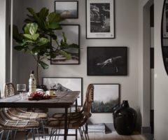 Tiny and cozy: l'eleganza (e il coraggio) delle pareti scure