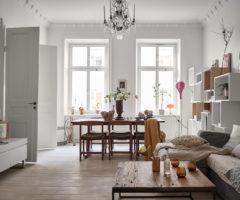 Interior Inspiration: mix di stili e luminosità per un appartamento scandinavo