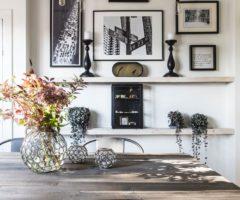 Spotlight on color: black and white e mix di stili per una casa di campagna