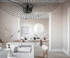 Get the look: stile wabi sabi e colori delicati per un interno nordico