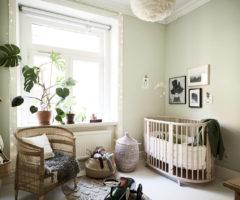 Interior Inspiration: la stanza del neonato nei toni del verde