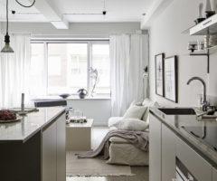 Tiny&cozy: un monolocale monocromatico ben progettato