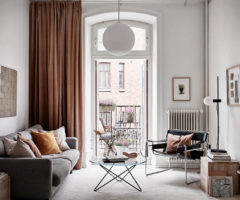 Spotlight on color: una palette delicata dove il nero valorizza l'interior design