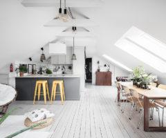 Interior Inspiration: un sottotetto con una luminosa zona giorno