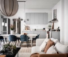 Interior Inspiration: toni freddi e caldi per un appartamento dallo stile decisamente chic