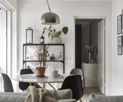 Tiny&cozy: un interno in bianco e nero dagli arredi sofisticati