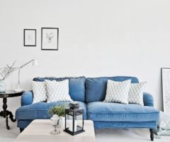 Inspirations: un divano in velluto nel colore del mare