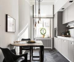 Zoom sui colori: l' appartamento svedese nei toni del grigio