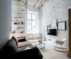 Bianche Ispirazioni: un appartamento compatto ma accogliente a Cracovia