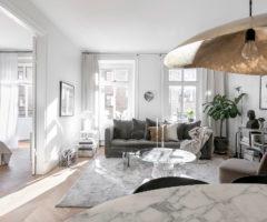 Interior Inspirations: la passione per il grigio in un appartamento svedese