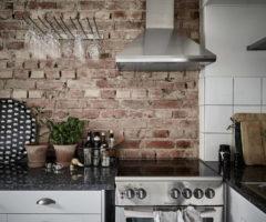 Interior Inspirations: mattoni a visita per piccola casa svedese