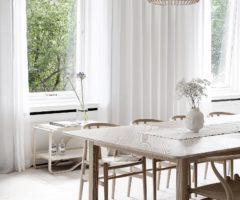 Interior inspiration: linee pure e total white per illuminare l'home styling