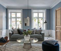 Get the look: mix di stili e un tocco di azzurro per un interno svedese