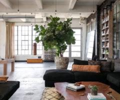Interior inspiration: un loft con terrazza e vista sul mare