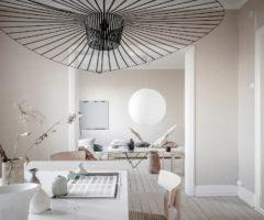 Get the look: stile wabi sabi e colori delicati per un interno nordico