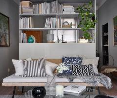 Decor tips: una libreria per separare la zona notte dalla zona giorno