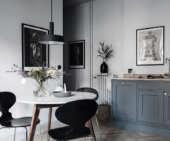 Tiny&cozy: pochi metri quadri molto chic con cucina color petrolio