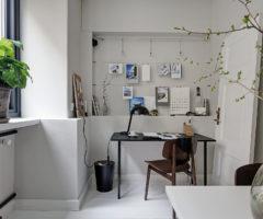 Tiny&cozy: dettagli di stile per un ambiente total white con tocchi di nero