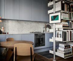Tiny&cozy: un monolocale dai colori sofisticati