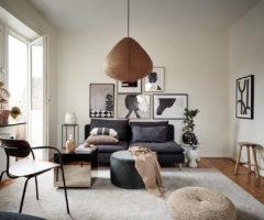 Tiny&cozy: un monolocale con cucina dal decor equilibrato