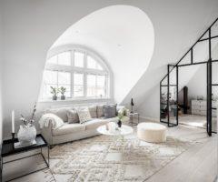 Interior Inspiration: un romantico sottotetto su due piani