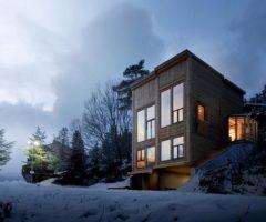 Go green: una cabina in legno in mezzo al bosco di Norvegia che fa sognare